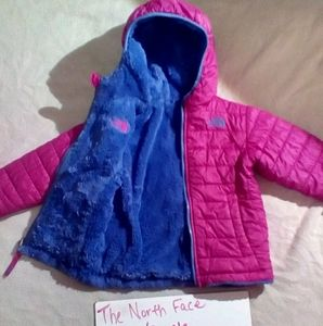 Other - 3T-Pink/purple The North Face winter coat